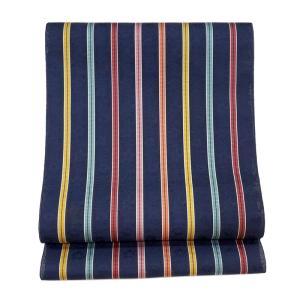 特別価格品  夏帯 八寸名古屋帯 紋紗織り 縞取草花文様( ポリエステル100%  ◇ 名古屋帯お仕立かがり 追加3,850円でお受けいたします。|gofuku-masuya