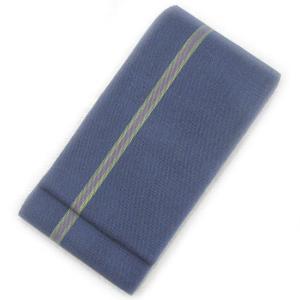 ◇ オトナ浴衣におすすめの逸品 ◇ 涼しさあふれる透け感が魅力  本場西陣 麻 半幅帯  ( 青褐色 ) gofuku-masuya