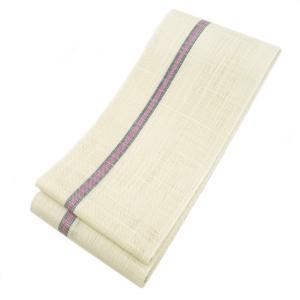 ◇ オトナ浴衣におすすめの逸品 ◇ 涼しさあふれる透け感が魅力  本場西陣 麻 半幅帯  ( 白練色 ) gofuku-masuya