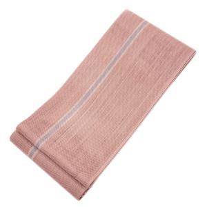 ◇ オトナ浴衣におすすめの逸品 ◇ 涼しさあふれる透け感が魅力  本場西陣 麻 半幅帯  ( 桜色 ) gofuku-masuya