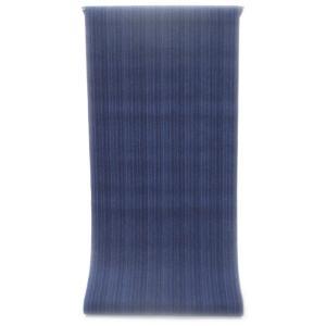 男性用 紳士用 メンズ ゆかた  先染め糸の変わり織り   紺青色と空色の矢鱈縞柄(反物)|gofuku-masuya