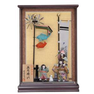 五月人形 ケース入り木目込み人形 五月晴れ 幅35cm  y...
