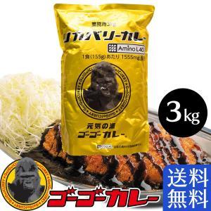 ゴーゴーカレー 業務用 リカバリーカレー 3kg 約20食分 レトルトカレー ご当地 スポーツ 必須アミノ酸 チキンカレー|gogo-curry