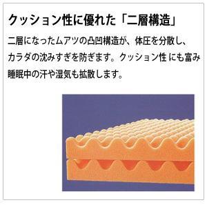 西川 ムアツ布団 ダブル 厚さ90mm 硬さ110N 三つ折り 日本製 アコハード 専用シーツプレゼント|gokai-shingu-uriba|04