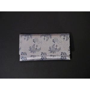 数珠入れ 正絹西陣織 シルバー地 K-1-Y|gokurakudo