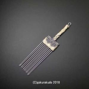 香炉くまで(灰ならし)(大)(深緑地に金)Y|gokurakudo