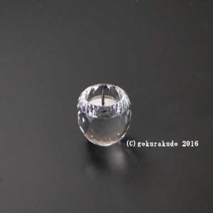 クリスタルガラス具足セットのローソク立てのみ gokurakudo