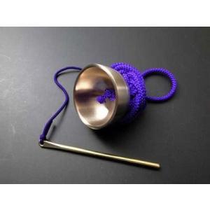 りん 超小型極上さはり印金 紫色正絹組紐付き|gokurakudo