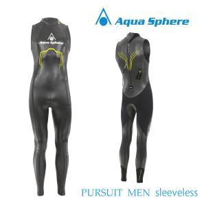 Aqua Sphere(アクアスフィア) PURSUIT MEN SLEEVELESS パースーツ スリーブレス【レビューでプレゼント対象商品】【返品交換不可】|golazo