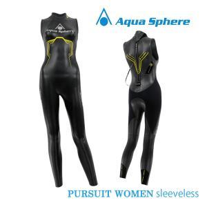 Aqua Sphere(アクアスフィア) レディース PURSUIT SLEEVELESS パースーツ スリーブレス トライアスロン用ウエットスーツ【返品交換不可】|golazo