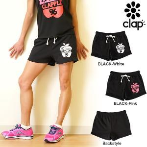 CLAP(クラップ) スウェットショーツ CLAPPLE|CLAPとAPPLEでクラップル!ダンスやフィットネスに便利なショートパンツ|golazo