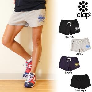 CLAP(クラップ) スウェット ショートパンツ LOVE CLAP(ラブクラップ)|golazo