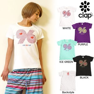 CLAP(クラップ) Tシャツ 96 HEART|よく見ると可愛いハートがぎっしりのティーシャツ|golazo