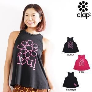 CLAP(クラップ) a-LINE TANK iLOVE-CLAP(タンクトップシャツ)|golazo