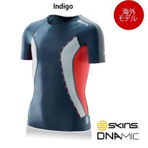 【海外在庫商品】SKINS(スキンズ) DNAmic キッズ(ユース) コンプレッション ショートスリーブ(ジュニア用半袖インナーシャツ)【海外モデル】|golazo