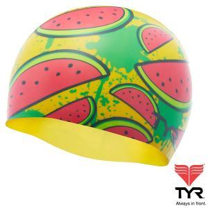 TYR(ティア) シリコン素材のオシャレで超個性的なスイムキャップ WATTERMELON|golazo
