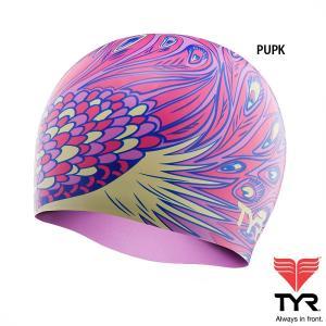 TYR(ティア) シリコン素材のオシャレで超個性的なスイムキャップ PEACOCK|golazo