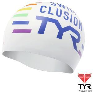 TYR(ティア) シリコン素材のオシャレで超個性的なスイムキャップ CLUSION 【返品交換不可】|golazo