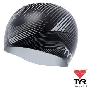 TYR(ティア) シリコン素材のオシャレで超個性的なスイムキャップ THIRD DIMENSION 【返品交換不可】|golazo
