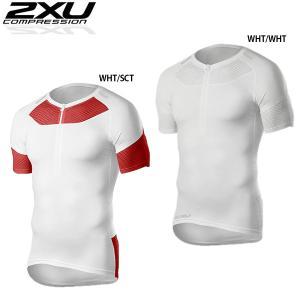2XU XTRM COMPRESSION S/S TOP コンプレッショントップス 筋肉をサポートしトライアスロンにおススメ!!【返品交換不可】|golazo