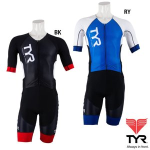 TYR(ティア) SHORT SLEEVE SPEED TRI SUIT FRONT ZIPPER|golazo