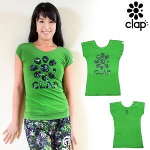 CLAP(クラップ) ゴラッソ!限定モデル ストレッチトップ(Tシャツ) プレデター PREDATOR|人気のG-FLOWER柄のロゴTシャツ!ゴラッソだけの特別デザイン!|golazo