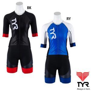 TYR(ティア) レディース SHORT SLEEVE SPEED TRI SUIT FRONT ZIPPER ショートスリーブ フロントジップ トライスーツ(トライアスロン用スーツ)|golazo
