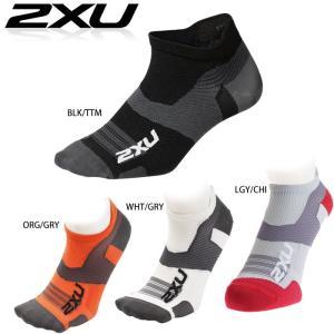 2XU ユニセックス VECTR ULTRALIGHT NO SHOW SOCKS(トレーニングベクターソックス) ランニング用靴下【返品交換不可】|golazo