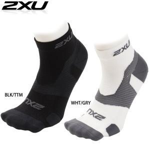 2XU ユニセックス VECTR LIGHT CUSH 1/4 CREW(トレーニングベクターソックス) ランニング用靴下【返品交換不可】|golazo