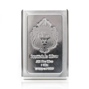 (新品) 1 キロ 純度 .999 銀 バー 「スタッカー」 重ねる インゴット・保証書付き