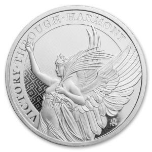 [保証書・カプセル付き] 2021年 (新品) セントヘレナ「女王の美徳・勝利 」1オンス 銀貨