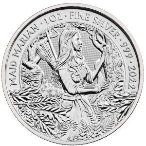 [保証書・カプセル付き] 2021年 (新品) イギリス「神話と伝説・メイド マリアン」純銀 1オン...