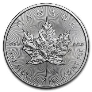 [保証書・カプセル付き] 2020年 カナダ (新品) メイプルリーフ 5ドル 1オンス 銀貨