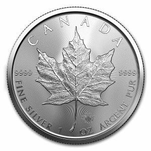 [保証書・カプセル付き] 2021年 カナダ (新品) メイプルリーフ 5ドル 1オンス 銀貨