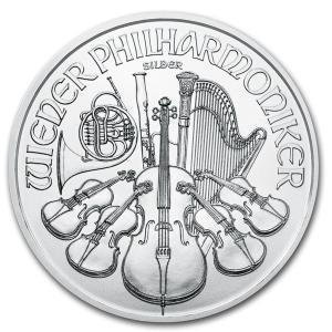 2020年 (新品) オーストリア ウィーン銀貨 フィルハーモニー 1 オンス 純銀貨・カプセル入り...
