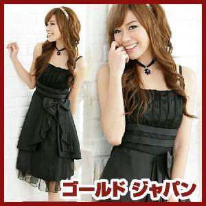 大きいサイズ レディース ワンピース ドレス ブラック パーティ フレアー gold-japan