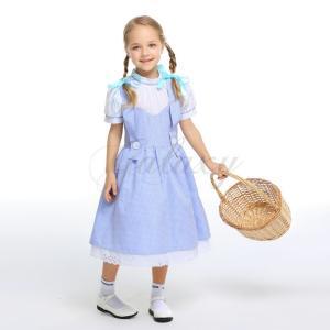 58e2da26cddc0 ハロウィン ドロシー風 オズの魔法使い Dorothy 童話 S-XL ワンピース キッズ 子供用 コスプレ衣装 ps3413