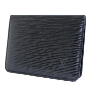 ルイ ヴィトン ポルト 2カルト ヴェルティカル カードケース エピ パスケース メンズ エピレザー ノワール ブラック M63202 中古  LOUIS VUITTON|goldeco