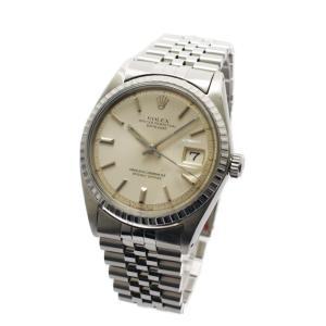 オーバーホール済み ロレックス デイトジャスト オイスターパーペチュアル 腕時計 メンズ 自動巻き 文字盤シルバー シルバー 1603 中古 送料無料 ROLEX|goldeco