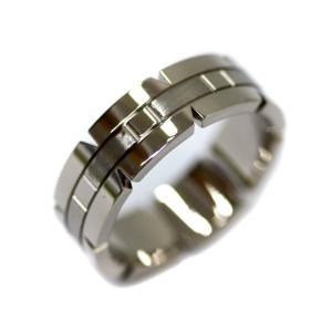 新品仕上げ済み カルティエ タンク フランセーズ リング・指輪 ユニセックス K18ホワイトゴールド ジュエリー 19.5号 ホワイトゴールド 中古 送料無料 CARTIER|goldeco