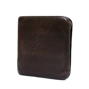 ルイ ヴィトン ポルトビエモネジップ タイガ 二つ折り財布 メンズ タイガ グリズリ M30676 中古 送料無料 LOUIS VUITTON|goldeco