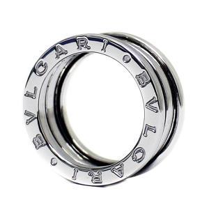 新品仕上げ済み ブルガリ 2バンド B-Zero1 ビーゼロワン  リング・指輪 レディース K18ホワイトゴールド ジュエリー 8.5号 WG 中古 送料無料 BVLGARI goldeco