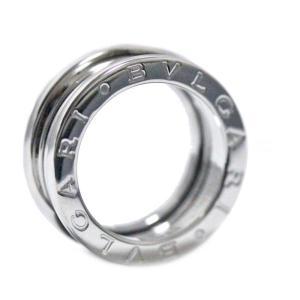 新品仕上げ済み ブルガリ B-zero1 ビーゼロワン リング・指輪 ユニセックス K18ホワイトゴールド ジュエリー 7号 シルバー 中古 送料無料 BVLGARI goldeco
