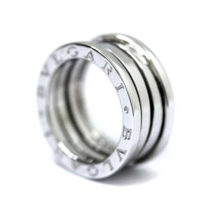 新品仕上げ済み ブルガリ B-ZERO1 ビーゼロワン リング・指輪 ユニセックス K18ホワイトゴールド ジュエリー 8.5号 ホワイトゴールド 中古 送料無料 BVLGARI goldeco