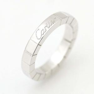新品仕上げ済み カルティエ ラニエール リング・指輪 レディース K18ホワイトゴールド ジュエリー 8号 シルバー 中古 送料無料 CARTIER|goldeco