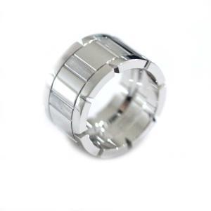 新品仕上げ済み カルティエ タンクフランセーズLM リング・指輪 レディース K18ホワイトゴールド ジュエリー 10号 シルバー 中古 送料無料 CARTIER|goldeco
