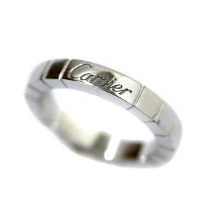 新品仕上げ済み カルティエ ラニエール リング・指輪 レディース K18ホワイトゴールド ジュエリー 6号 ホワイトゴールド 中古 送料無料 CARTIER|goldeco