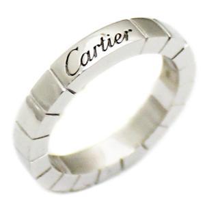 品仕上げ済み カルティエ ラニエール リング レディース K18WG 750 指輪 ブランドジュエリー ホワイトゴールド #46 約6号 美品 ヘッド 中古 Cartier 送料無料|goldeco