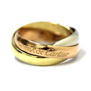 新品仕上げ済み カルティエ 3連 トリニティ リング・指輪 レディース ジュエリー 9.5号 ピンクゴールド 中古 送料無料 CARTIER|goldeco