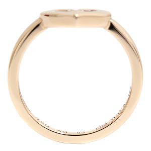 カルティエ K18 PG Cハート ダイヤ リング #48 約9号 ジュエリー 指輪 中古 Cartier 送料無料|goldeco|02